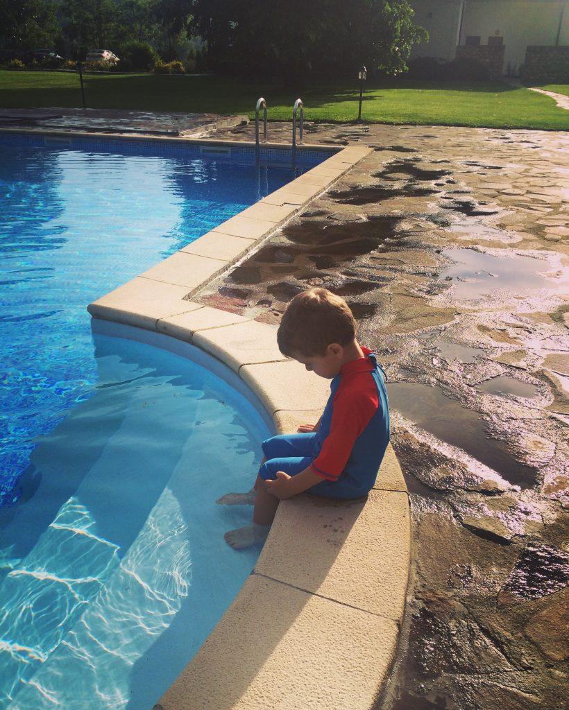 Prima intalnire cu piscina