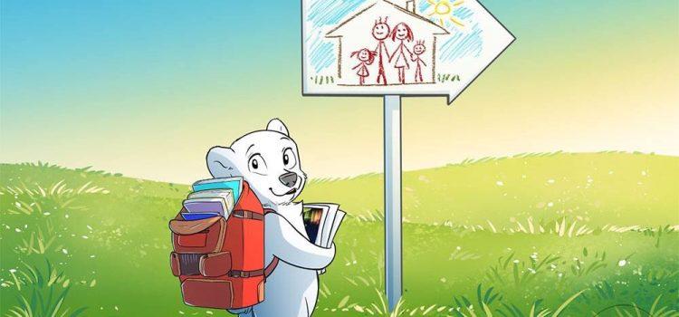 Fram, ursul polar, intr-o colectie aparte pentru cei mici
